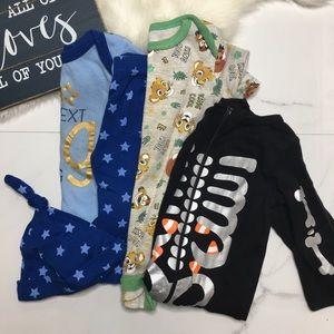 🎉Bundle baby boy bodysuits bottoms hat B6-14